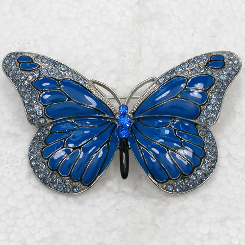 12pcs lot Wholesale Fashion Brooch Rhinestone Enamel Butterfly Pin brooches Jewelry Gift C101478
