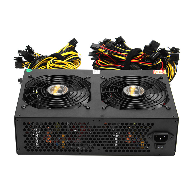 NEW PC Power Supplies 80 PLUS Gold 3450W ATX PC Miner Power Supply Machine 24 Graphics Interface For BTC Bitcoin Mining Server vakind usb watchdog card unattended automatic restart blue screen crash timer reboot for 24h pc gaming server mining miner