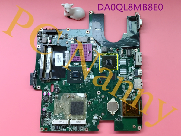 DA0QL8MB8E0 For Hasee HP870 a550-t45 Notebook Motherboard Main Board s478 PM45 NVIDIA Geforce video 512MB DDR2 + Free CPU