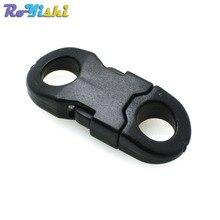 Straight-Side Release-Buckle Paracord Bracelet Clasp Plastic for Necklace 25pcs/Pack
