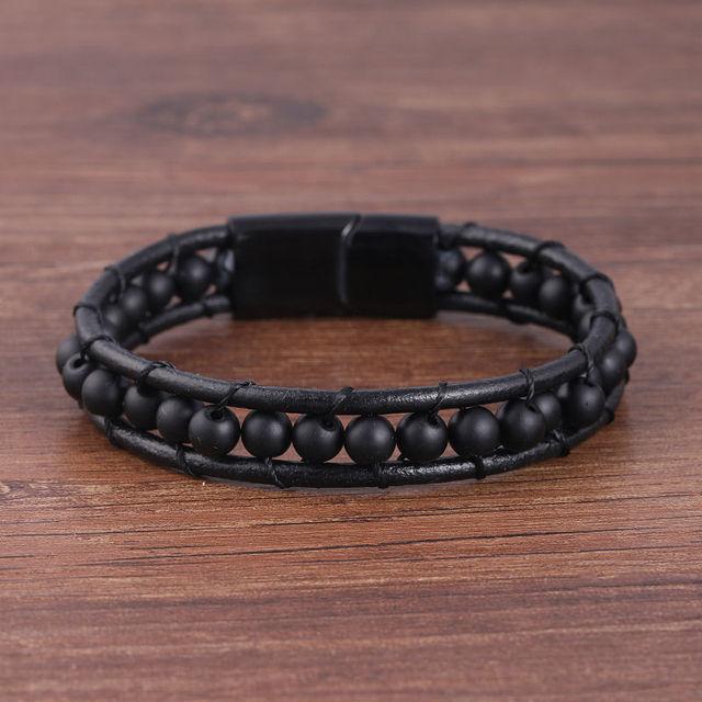 Leather Bracelets 6MM...
