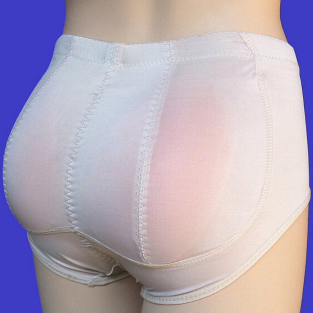 8e0f1d15f 2 Silica Silicone Underwear Panties Insert Pants Padded Shaper Knickers  Buttock Backside Bum Padded Butt Enhancer Hip Up