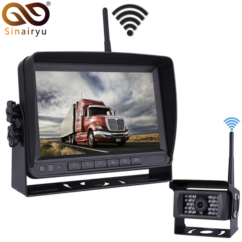 2019 Update Digital Wireless Backup Camera and Monitor Kit For Truck/Trailer/Bus/RV/Pickups/Trailer Reverse Rear view Cam Kit
