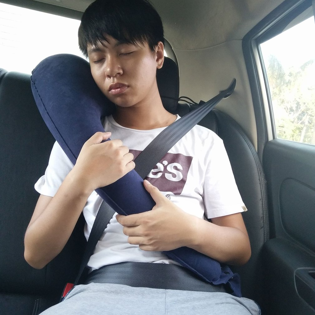 Baby Auto Pillow Kid Seat Belt Cover Shoulder Pad Comfortable Inflatable Blow Up Pillow Cushion Washable Neck Pillow Car Accs
