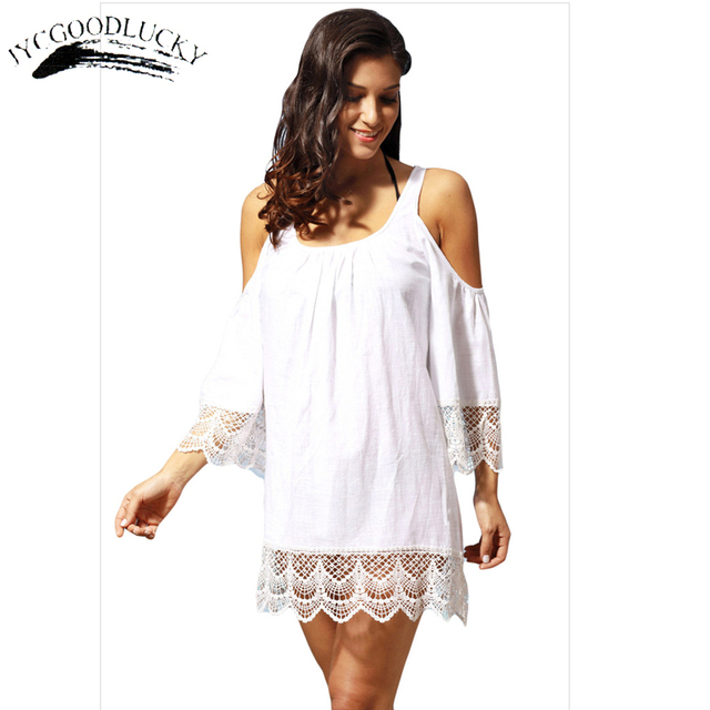 Beach Short Dresses Off Shoulder Summer Dress Women White Patchwork Mini Simple S Plus Size