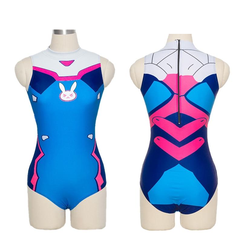 2e1828f80ab1a Στολές   αξεσουάρ Sexy Game OW D.VA Cosplay Costume Dva Mercy Cosplay  SUKUMIZU Spandex Anime Swimsuit One Piece Swimwear Bathing Suit