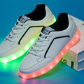 HOT! Led Shoes For Adults Fashion Light Up Mens Shoes Casual 7 Colors Outdoor Glowing LED Shoes Size39-44 chaussure lumineuse