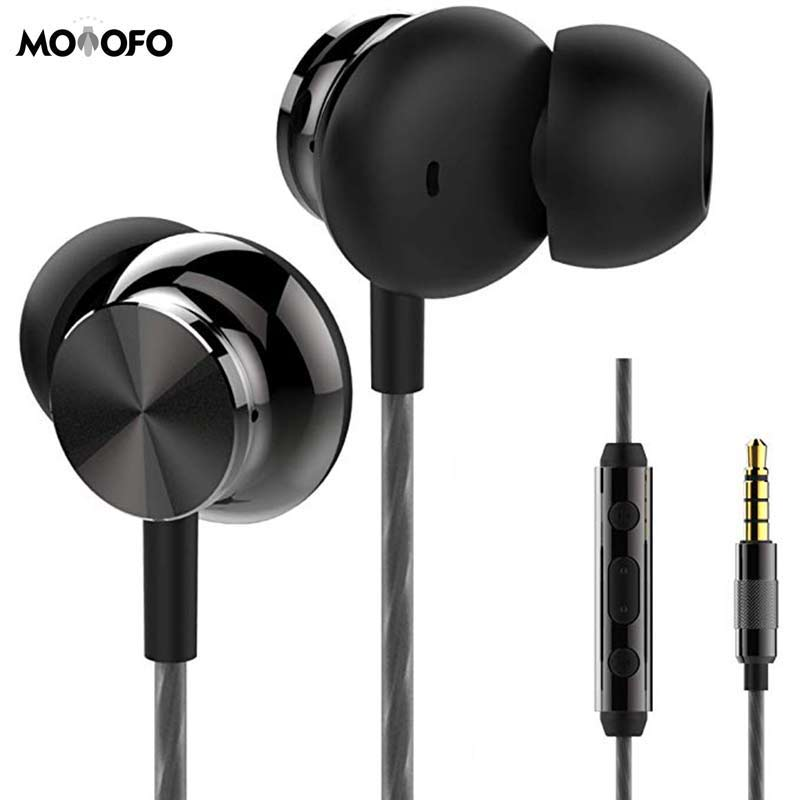 US $4 35 9% OFF Earphones Headphones Powerful Bass Driven Sound Ergonomic  Design with Remote Control and Microphone for iPhone iPad Samsung-in Mobile