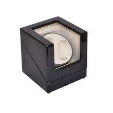 Uhrenbeweger, LT Holz Automatische Rotation 2 + 0 Uhrenbeweger Aufbewahrungskoffer Display Box (Außerhalb ist schwarz und innen ist weiß)