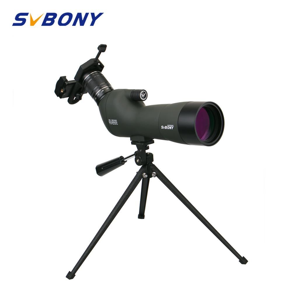 Spotting Scope 20 60x60 BAK4 23mm Eyepiece SVBONY SV29 Hunting Optics Waterproof Zoom Monocular Telescope w