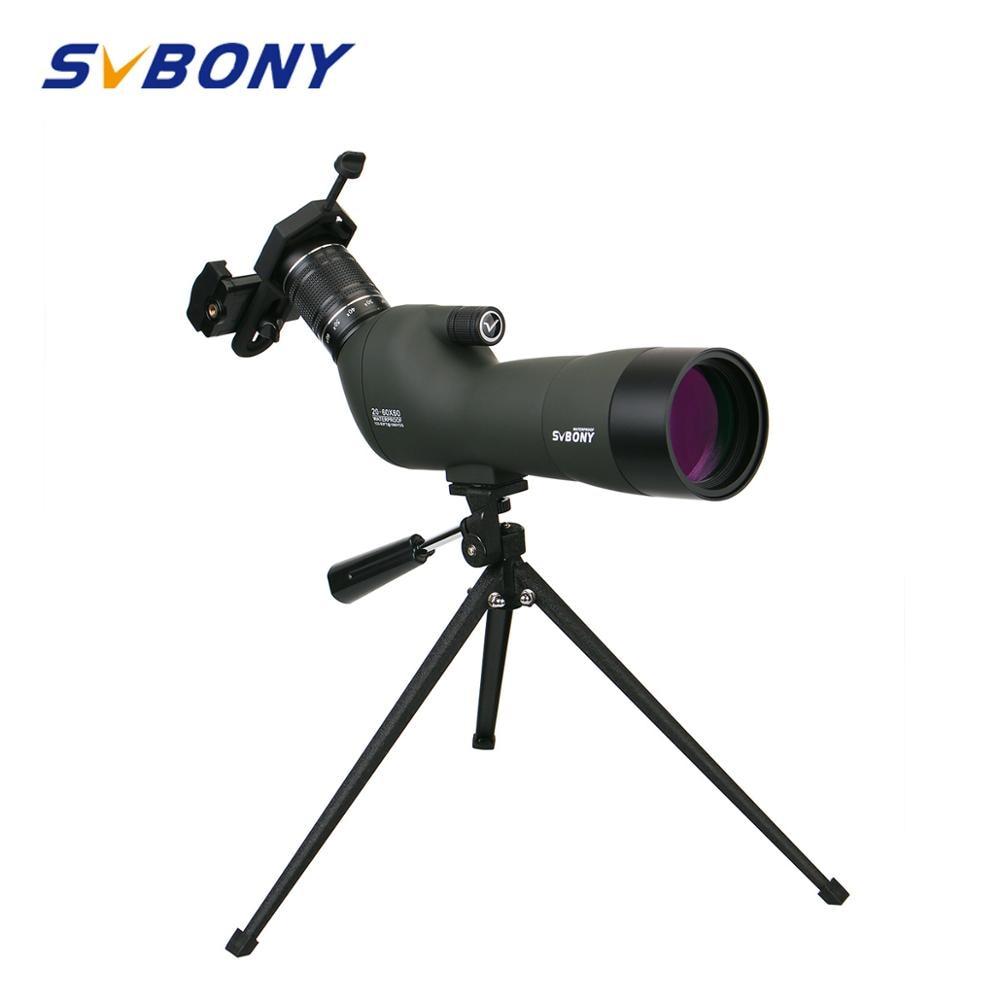 Spotting Scope 20 60x60 BAK4 23mm Eyepiece SVBONY SV29 Hunting Optics Waterproof Zoom Monocular Telescope w