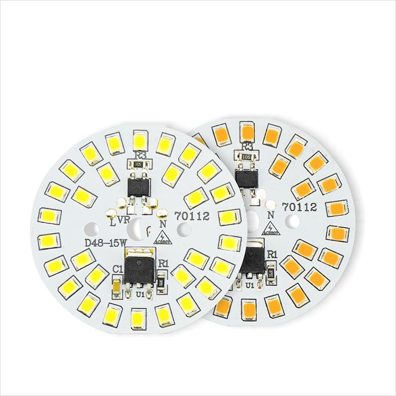 5PCS LED SMD Chip 15W 12W 9W 7W 5W 3W LED Bulb Light Chip AC220V Smart IC LED Bean For Bulb Lamp Spotlight Cold White Warm White