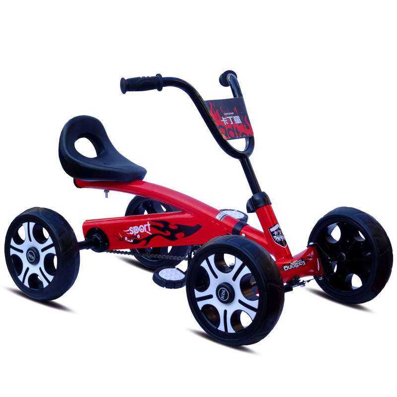 Foot Pedal Go Kart Kids Ride On Car Toy 4 Wheels Bicycle Push Bike For 2-6 Years Boys Girls Birthday Gifts Outdoor Activities go-kart