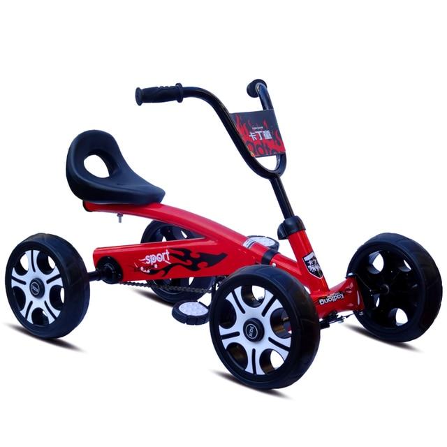 foot pedal go kart kids ride on car toy 4 wheels bicycle push bike