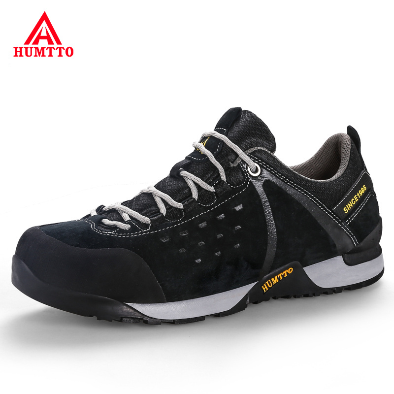 Genuine Leather Outdoor Hiking Shoes Mens Trekking Hunting Tourism Mountain Shoes Non-slip Wear Resistant Climbing Men Sneakers цена