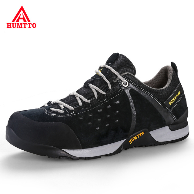 Genuine Leather Outdoor Hiking Shoes Mens Trekking Hunting Tourism Mountain Shoes Non-slip Wear Resistant Climbing Men Sneakers