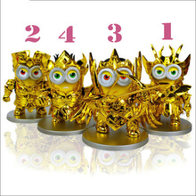 Despicable Me Saint Seiya Figures Minions Cute 10cm Pvc Hot Toys Action Figure Toys Hobbies Collection Models