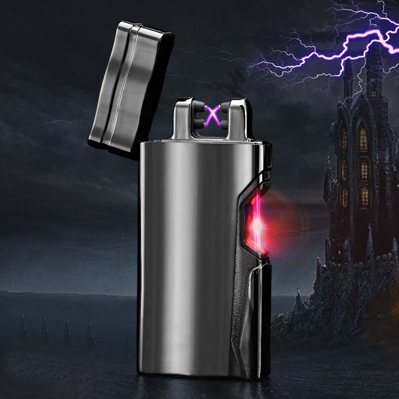 2017 portable charge Usb charging double arc plasma eletronic pulse infrared induction windproof lighter