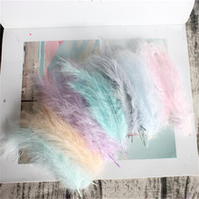 Turkey Marabou Feathers 50 PCS 4-6Inches 10-15CM Plume Fluffy Plumas Wedding Dress DIY Jewelry Decoration Decorative Accessories(China)
