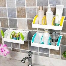 Corner Shelf Tub Baño Ducha Baño Sostenedor de la Succión De Almacenamiento de Accesorios de Cocina