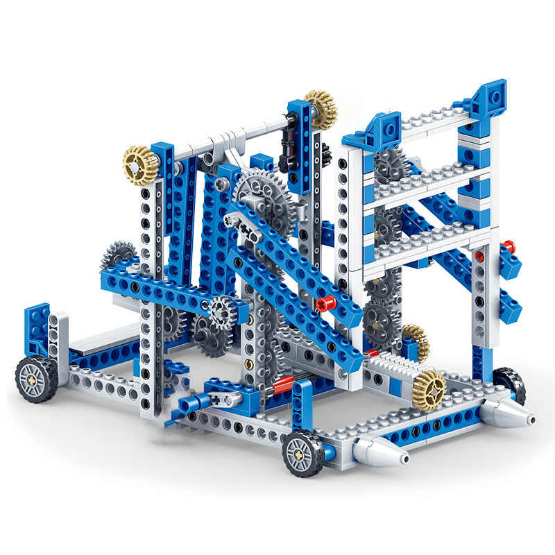 80pcs+ Science education toy brick gear mechanical puzzle assembled building blocks toys compatible with