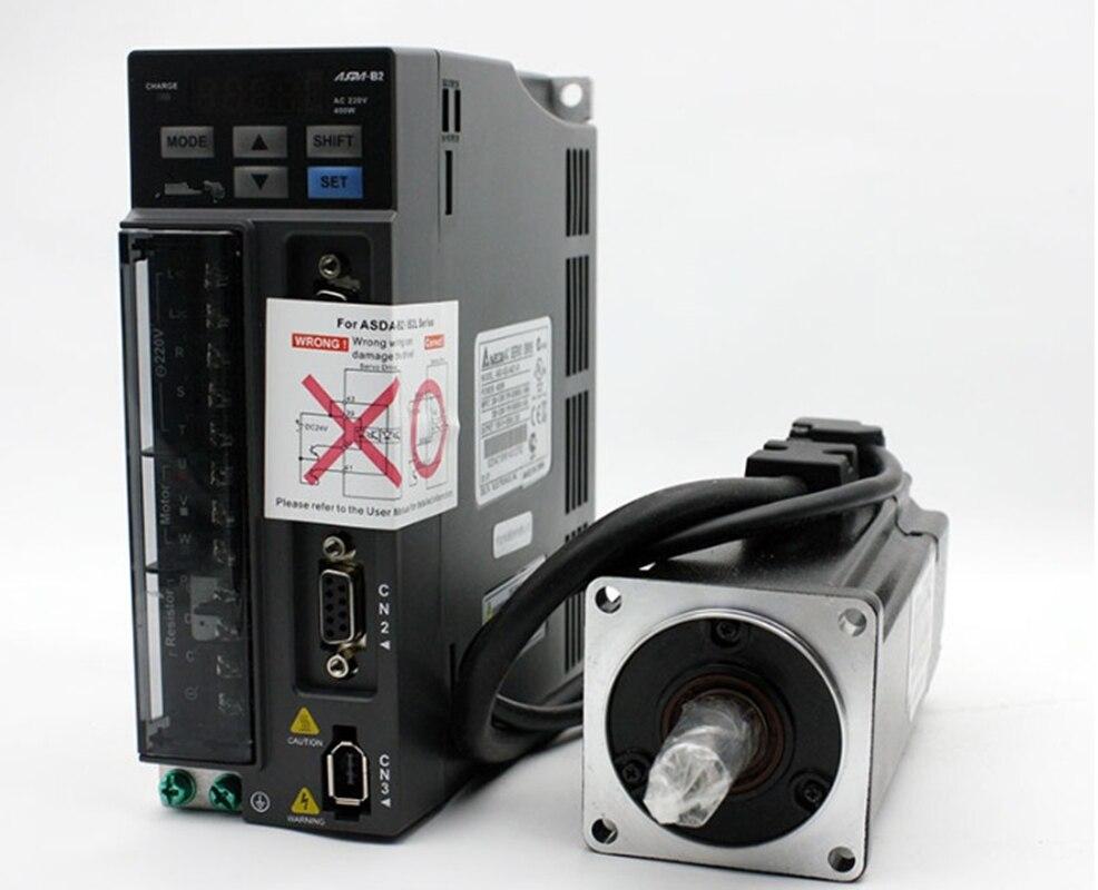 DELTA 400 w 3000 rpm 1.27N.m ECMA-C20604RS + ASD-B2-0421-B ASDA-B2 60mm AC servo driver de motor kits