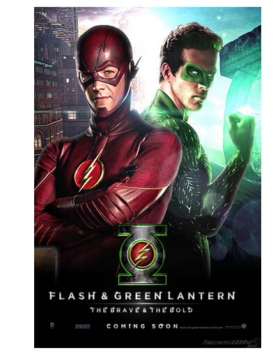 The Flash Barry Allen And Green Lantern Wall Poster Large Modern
