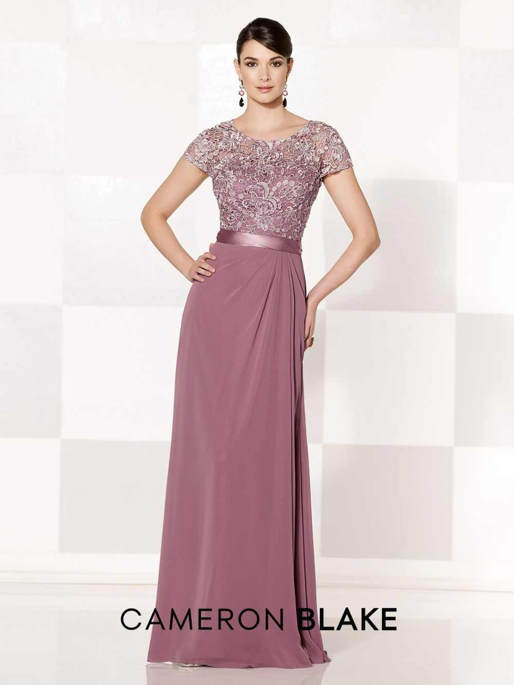 64b7a4fdc97 ... New Arrival Simple Chiffon Lace Mother of the Bride Dresses Plus Dresses  Cap Sleeves Pink Evening ...