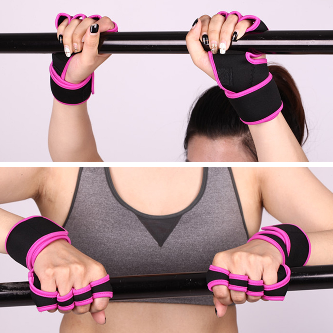 Practical Wrist Strap Fitness Gym Fitness Strap Hand Peace Fingers Palm Wrist Protector Dumbbells Horizontal Bar Sports Gloves practical wrist strap fitness gym fitness strap hand peace fingers palm wrist protector dumbbells horizontal bar sports gloves