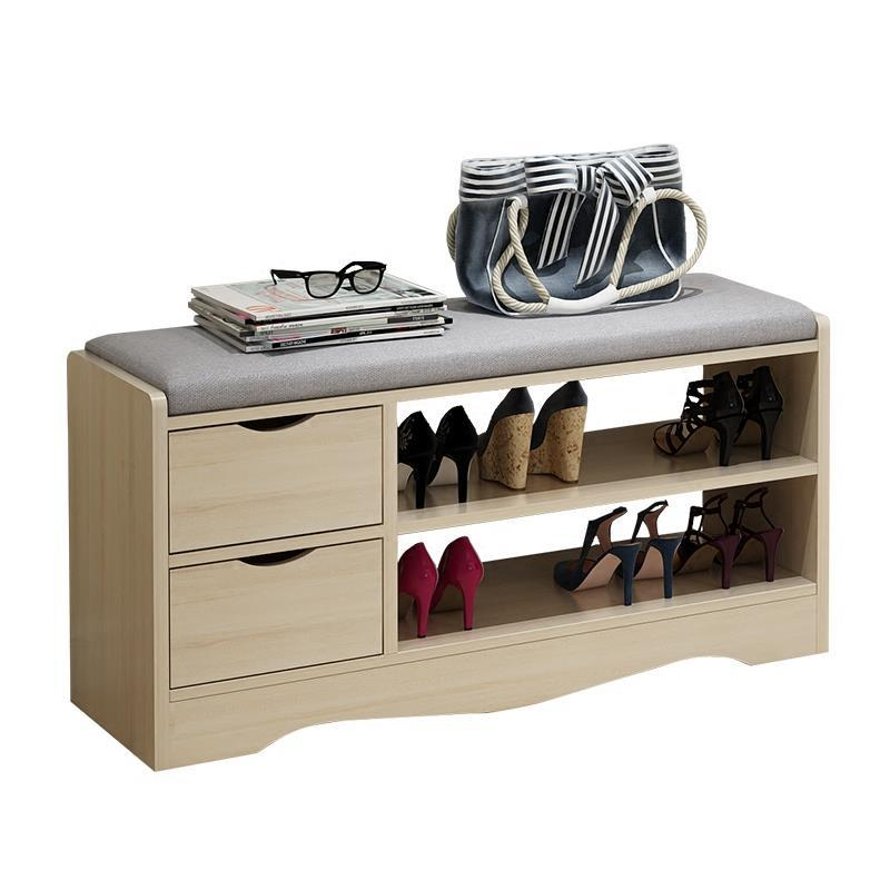 Фото cabinet and modern storage Multifunctional Hall Shoe rack Simple entrance shoes stool