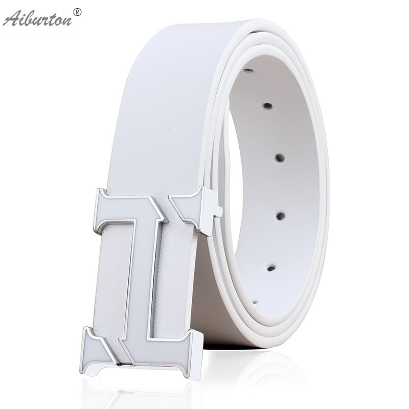 Brand Man Belt Fashion big h buckle Strap designer belts men high quality luxury Style white black cinturones hombre