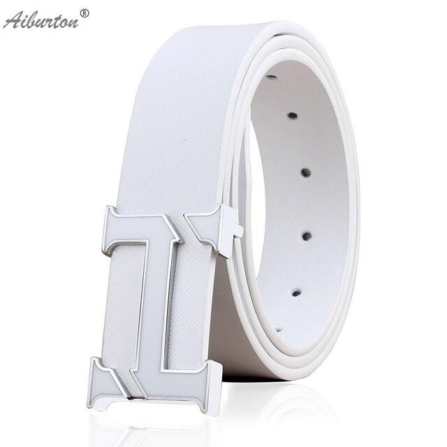 c3d5895b6 Marca hombre cinturón Fashion big h hebilla diseñador cinturones hombres de  alta calidad negro blanco del