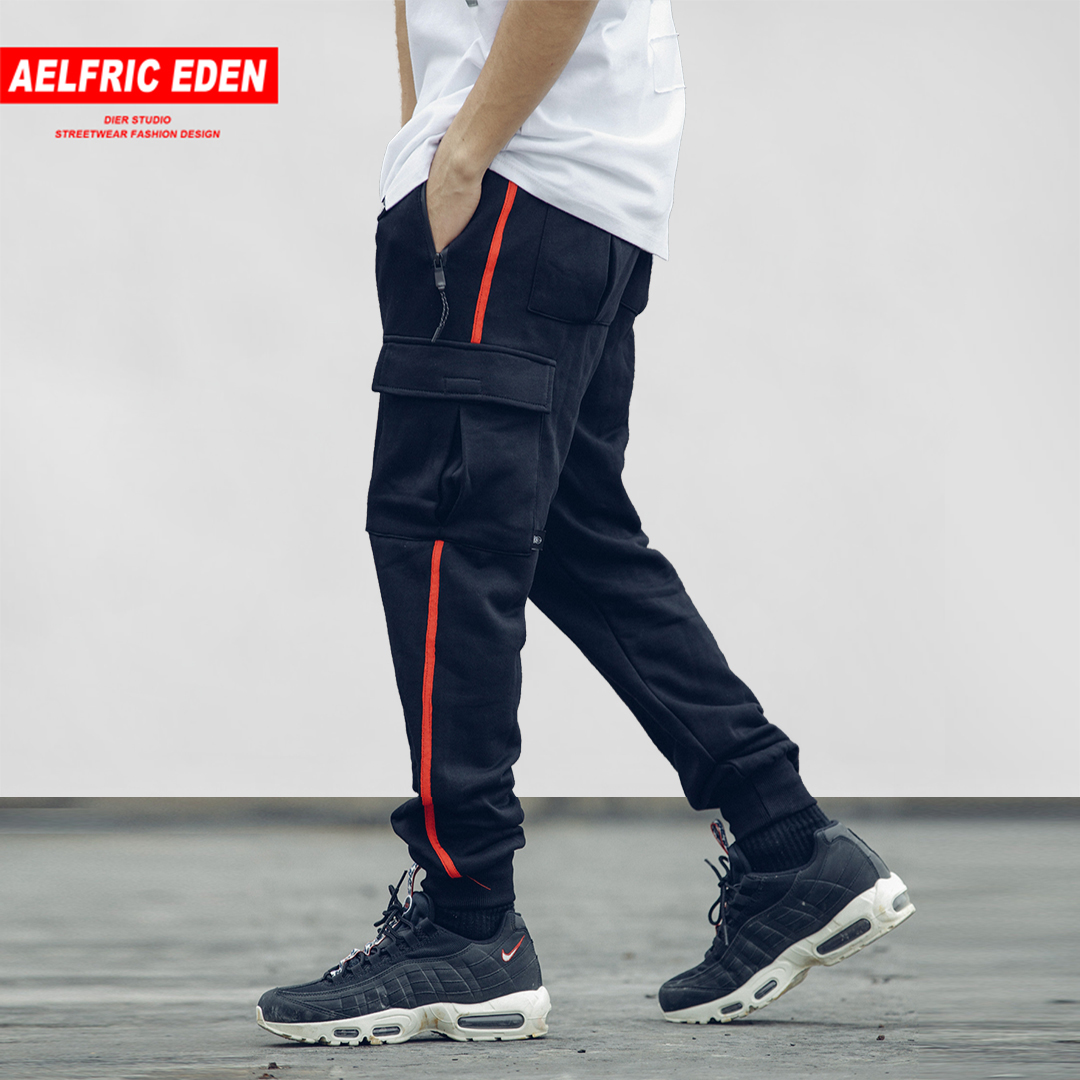 Aelfric Eden Fashion Side Striped Pockets Men Harem Pants 2018 New Design Male Joggers Casual Streetwear Hip Hop Sweatpants IN07