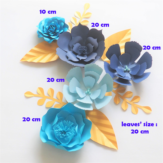 Diy Giant Paper Flowers Backdrop Artificial Handmade Paper Flower
