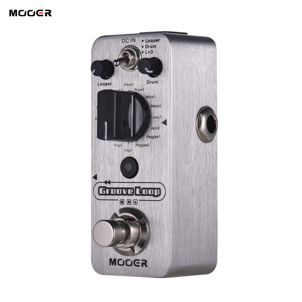 MOOER Groove Loop Drum Machine Looper Pedal 3 Modes Max 20min Recording Time Tap Tempo True