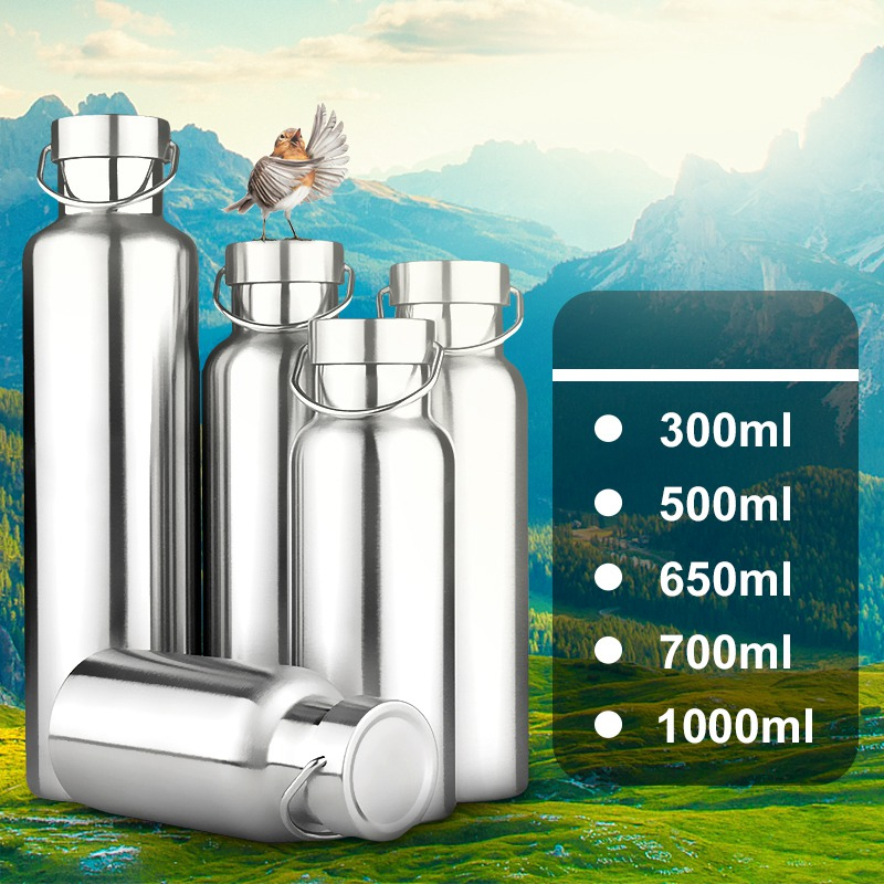 300/500/650/700/1000ml Stainless Steel Double Wall Vacuum Jug Insulated Water Bottles Coffee Kettle Travel Drink Vacuum Flasks