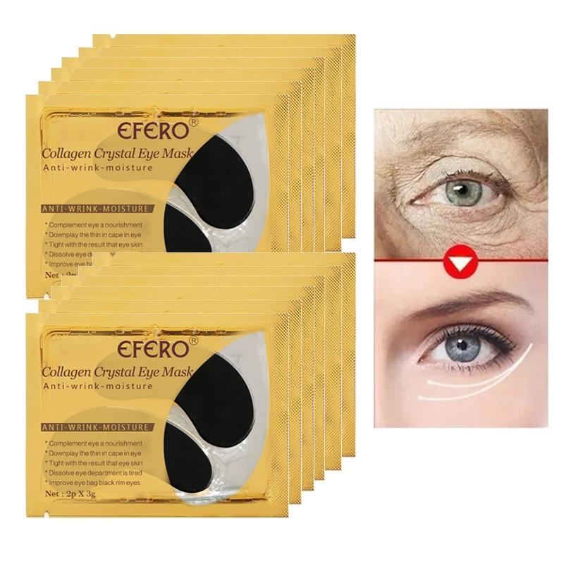 6Pair/Set Foot Mask for Legs Peeling Dead Skin Exfoliating Feet Mask Collagen Eye Mask Crystal Eye Patches Anti Aging Wrinkle 6
