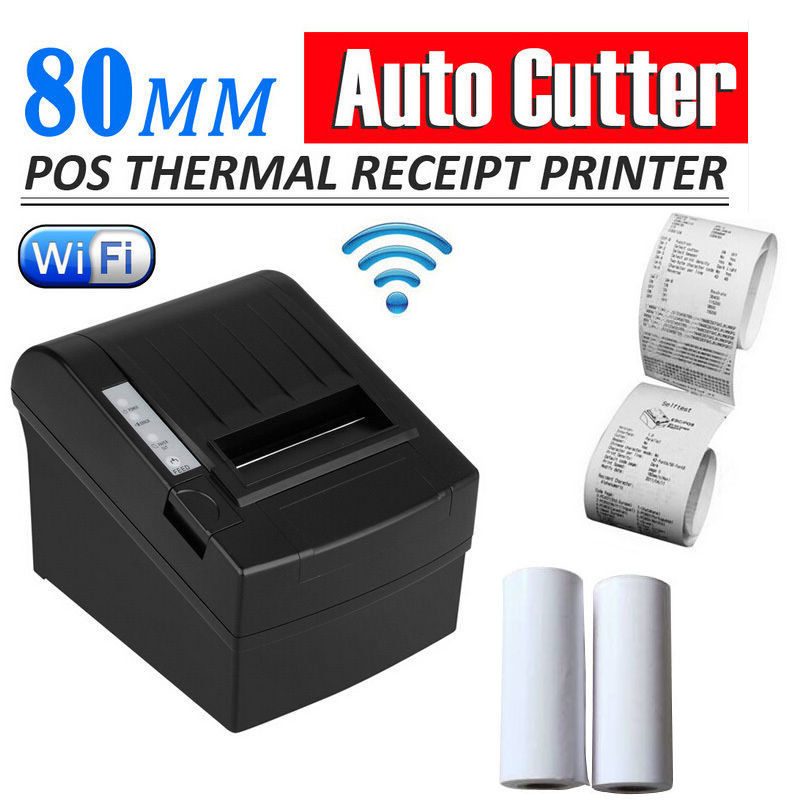 New USB Wifi 80mm POS Thermal Receipt Bill Printer Set Auto Cutter Roll Paper 300mm/s_DHL projector replacement bare lamp with housing sp lamp lp3f for infocus lp340 lp340b lp350 lp350g