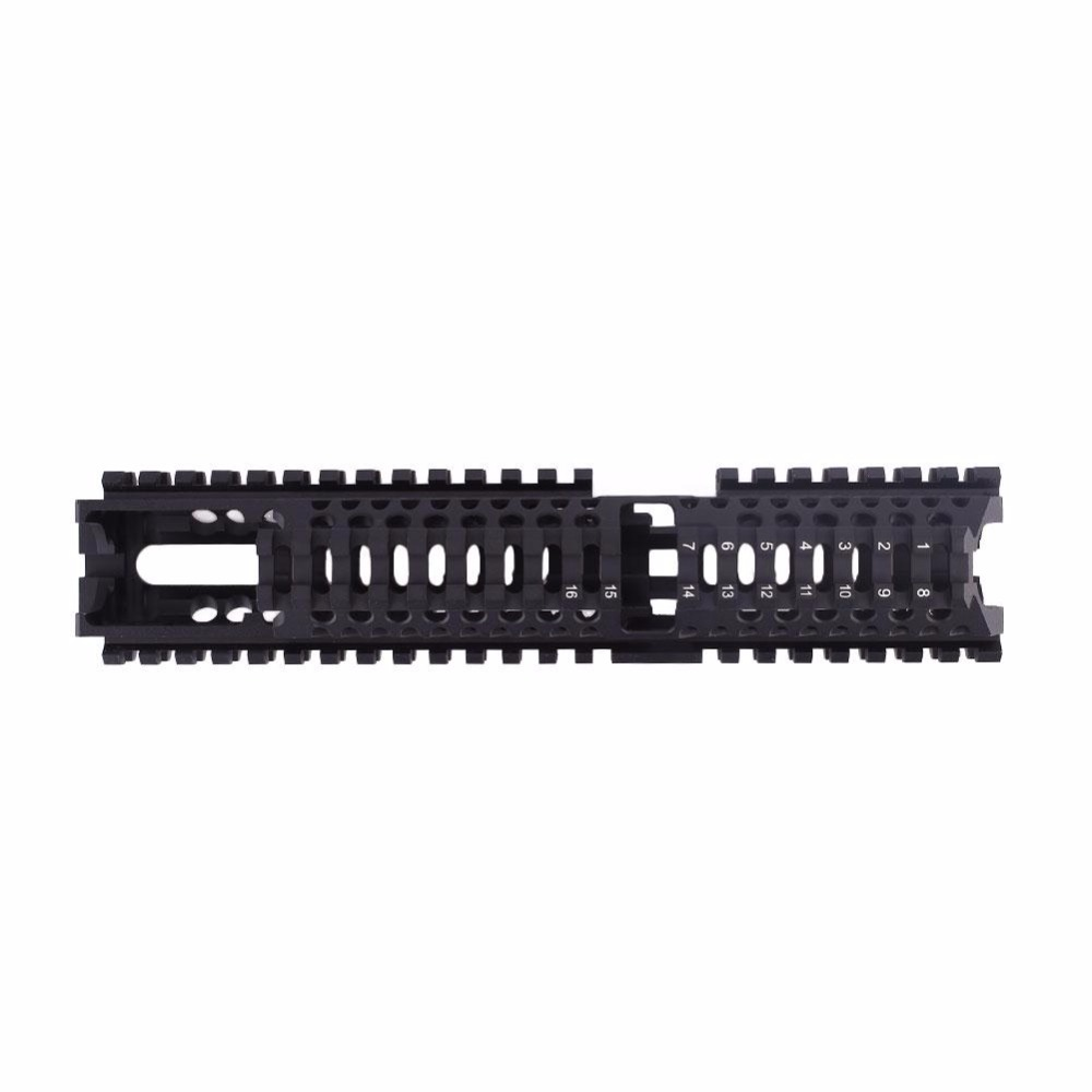 WosporT Model AK 47 Tactical Quad Rail Picatinny Handguard System CNC Aluminum Full Length Tactical B30 B31 hunting tool ak 47 tactical quad rail picatinny handguard system cnc aluminum full length tactical for ak rifles 26cm hunting gun accessories