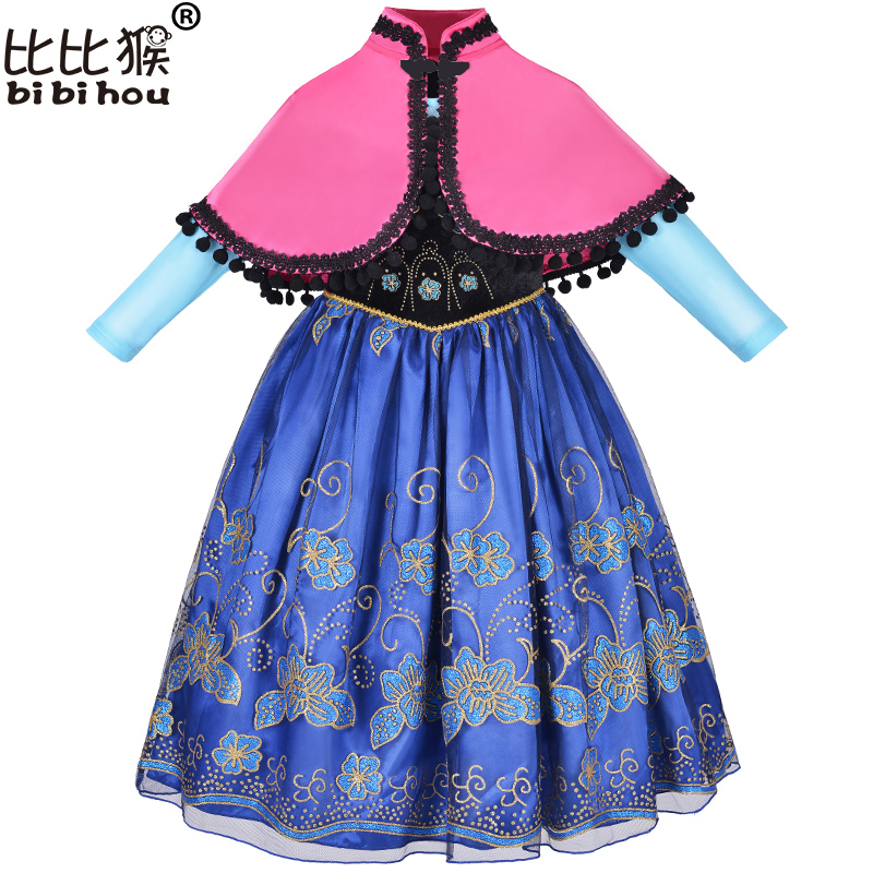 2017 Girls Clothes Baby Girls Christmas Dress elsa fancy costume for kids princess sofia dress elsa cosplay 3-12yrs children