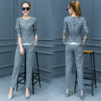 Elegant Pant Suits For Women 2017 Autumn Womens Business Suits Formal Office Suits Work Blazer With