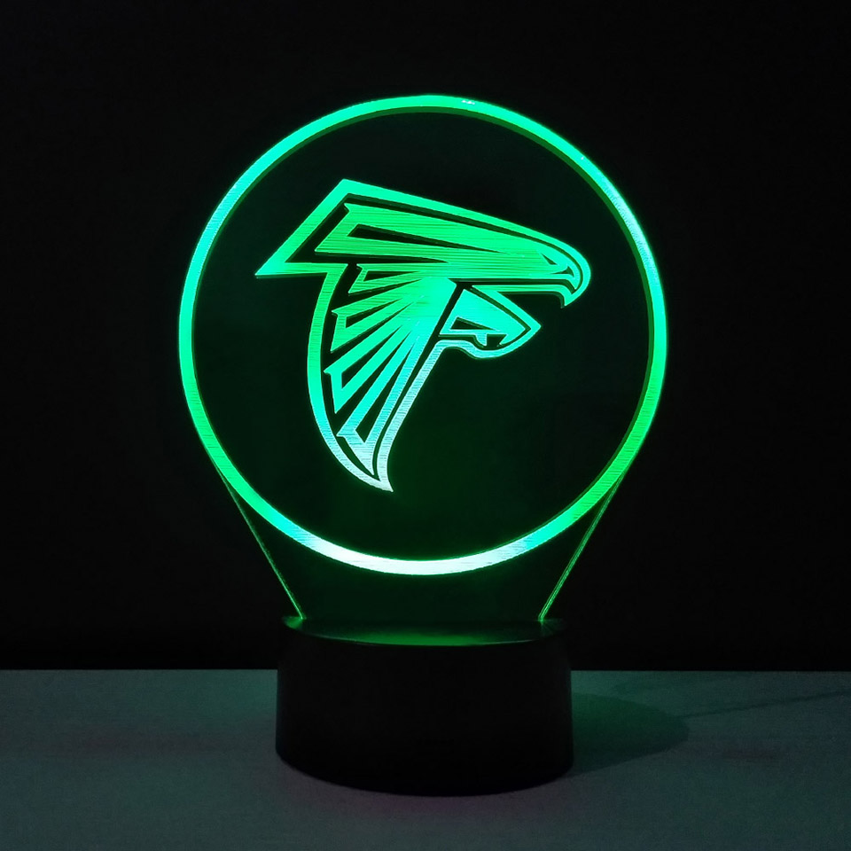 Creative 3D American Football Desk Lamp 7 Colors Changing LED Night Light Give Boy Bedroom Bedside Light Fixture Decor Fans Gift