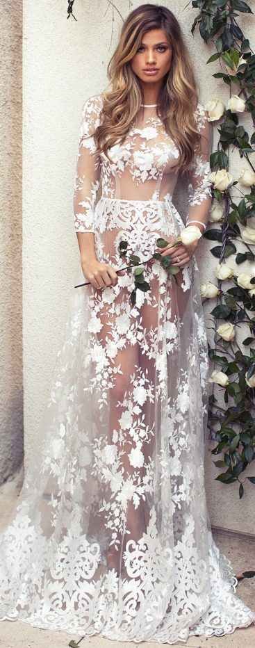 Fashion New Lace Maternity Dress Gown
