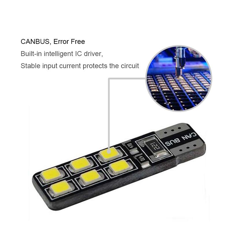 DOTAATDW 1x Canbus LED T10 W5W 駐車場ライトウェッジオペルのためのアストラ h j グラムコルサ Zafira 記章ベクトラ b c d