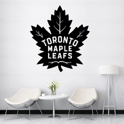 Creative Toronto Maple Leafs Cartoon Wall Decals Pvc Mural Art Diy Poster For Kids Room Living Room Home Decor Wall Art Decal