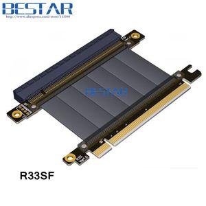 Image 2 - מרפק עיצוב Gen3.0 PCI E 16x כדי 16x3.0 Riser כבל 5 cm 10 cm 20 cm 30 cm 40 cm 50 cm PCI Express pcie X16 Extender זווית נכונה