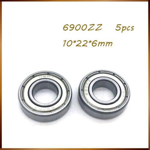 5pcs Deep Groove Mini Thin Ball Bearings 6900ZZ 61900-2Z//2RS Size 10*22*6mm