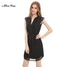 Women Clothing Dresses Alisa Pan  HE05307BK  Womens  Sweetheart Neckline Summer Casual Dress