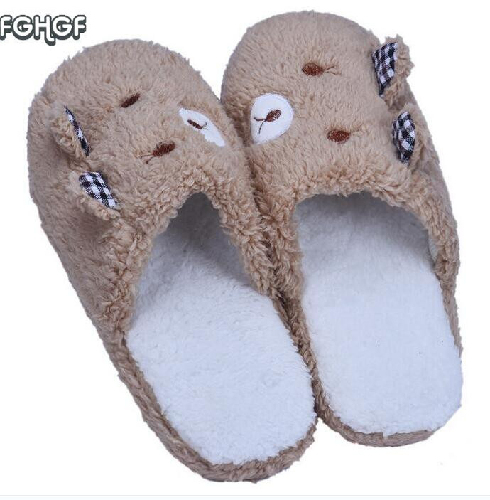 Korean House Home Slippers Women Men Plush Warm Shoes Indoor funny Cute Slippers chaussons Pantufa femme zapatillas casa mujer 2017 totoro plush slippers with leaf pantoufle femme women shoes woman house animal warm big animal woman funny adult slippers page 9
