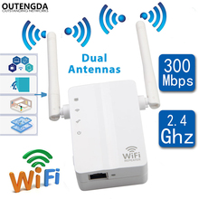 Wireless WiFi Repeater 300Mbps Network AP Router Dual Antennas Repetidor Wifi Signal Amplifier Extender 802.11n/b/g with WPS vrp300 plus wifi repeater 802 11n b g network 300mbps wifi routers range expander signal booster extender wifi ap wps encryptio